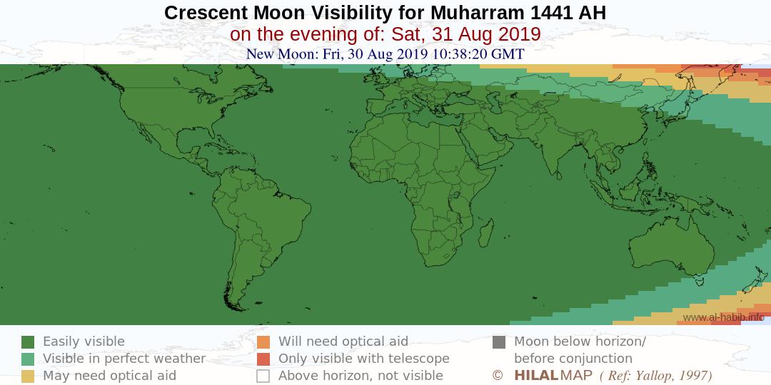 Today's Date in Muslim Hijri Calendar