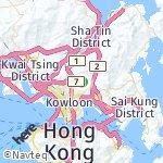 Peta wilayah Wong Tai Sin, Hong Kong-Cina