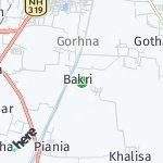 Peta wilayah Bakri, India