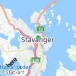 Peta wilayah Stavanger, Norwegia