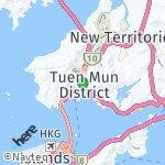 Peta wilayah Tuen Mun, Hong Kong-Cina