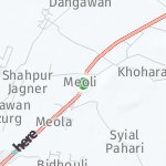 Peta wilayah Meoli, India