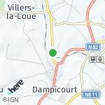 Peta wilayah Dampicourt, Belgia