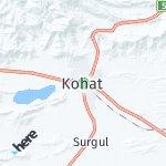 Peta wilayah Kohat, Pakistan