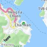 Peta wilayah Siu Sai Wan, Hong Kong-Cina