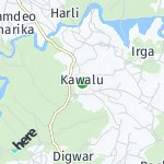 Peta wilayah Kawalu, India