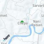 Peta wilayah Chepa, India