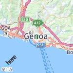 Peta wilayah Genova, Italia