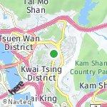 Peta wilayah Kwai Chung, Hong Kong-Cina