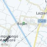 Peta wilayah Bojon, Italia