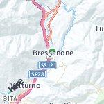 Peta wilayah Brixen, Italia