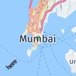 Peta wilayah Mumbai, India