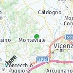Peta wilayah Monteviale, Italia