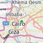 Peta wilayah Kairo, Mesir