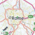 Peta wilayah Roma, Italia