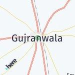 Peta wilayah Gujranwala, Pakistan