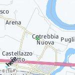 Peta wilayah Gazza, Italia