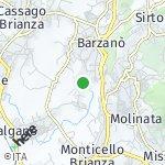 Peta wilayah Dago, Italia