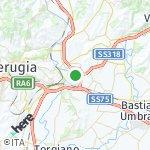 Peta wilayah Perugia, Italia