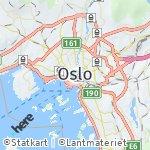 Peta wilayah Oslo, Norwegia