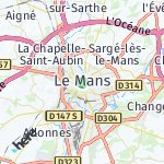 Map for location: Le Mans, France
