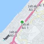 Map for location: Jabal Ali, United Arab Emirates
