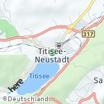 Map for location: Titisee, Germany