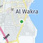 Map for location: Al Wakra, Qatar