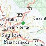 Map for location: Trinidad, Costa Rica