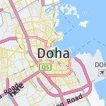 Map for location: Doha, Qatar