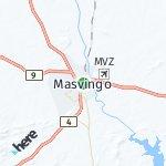 Map for location: Masvingo, Zimbabwe