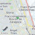 Map for location: Zona Ind Nombre de Dios, Mexico