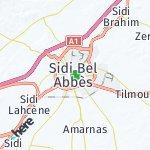 Map for location: Sidi Bel Abbès, Algeria