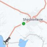 Map for location: Shashemene, Ethiopia