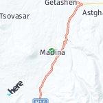 Map for location: Madina, Armenia