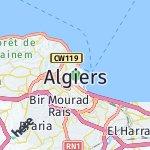 Map for location: Algiers, Algeria