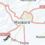Map for location: Mascara, Algeria