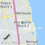 Map for location: Abu Halifa-Block 2, Kuwait