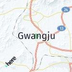 Map for location: Gwangju, South Korea