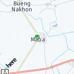 Map for location: Maba, Thailand
