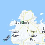 Map for location: St. John's, Antigua And Barbuda
