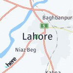 Map for location: Lahore, Pakistan