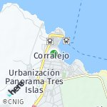 Map for location: Corralejo, Spain