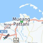 Map for location: Pattani, Thailand