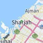 Map for location: Sharjah, United Arab Emirates