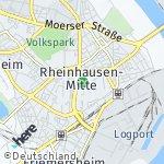 Map for location: Rheinhausen-Mitte, Germany