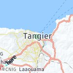 Map for location: Tangier, Morocco
