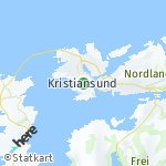 Map for location: Kristiansund, Norway