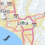 Map for location: Lima, Peru