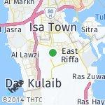 Map for location: West Riffa, Bahrain